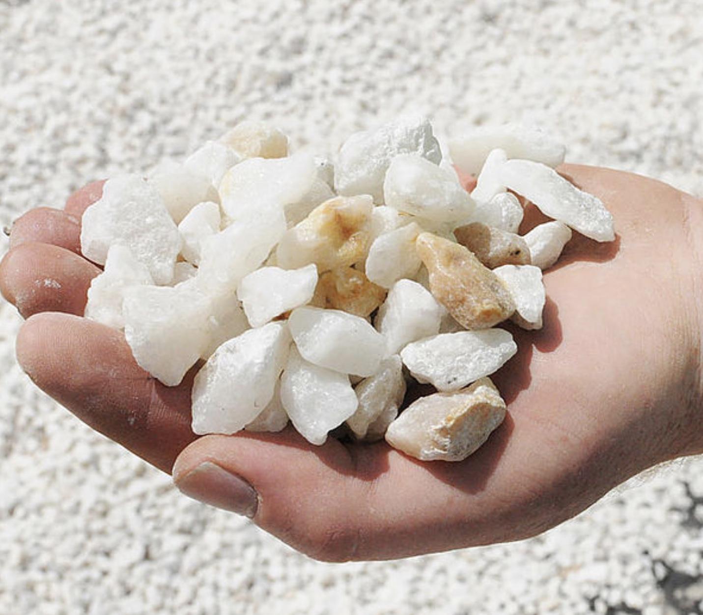 White Ice quartz 20 mm
