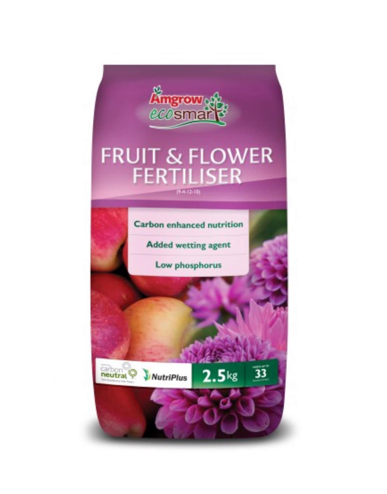 Amgrow ecosmart fruit & flower fertiliser 2.5kg